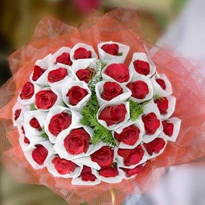 Attractive_Red Roses_Bunch